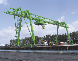 Gantry crane of Kranbau Köthen for RRD in Dortmund, Germany
